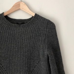 J. Crew Gray Ribbed Wool Sweater